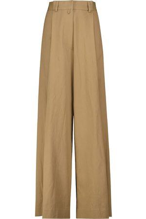 Dries Van Noten Cotton wide-leg pants