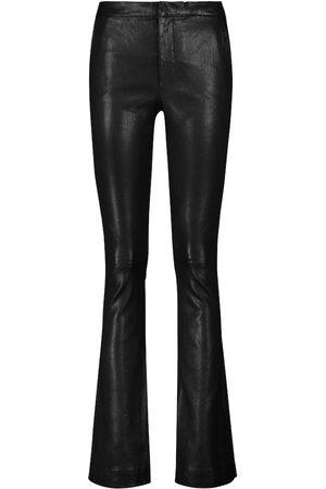 FRAME Le Serge leather mid-rise pants