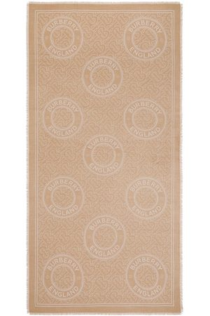 Burberry Monogram-embroidered cashmere scarf