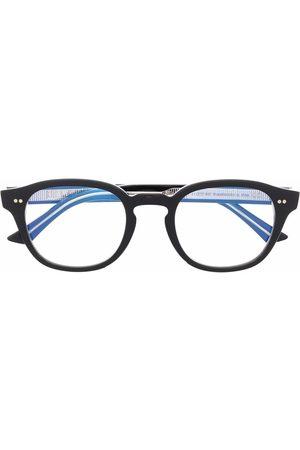 CUTLER & GROSS Polished-effect round-frame glasses