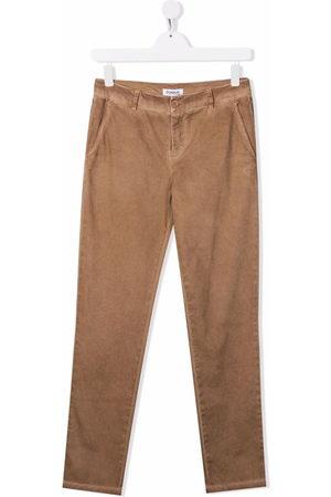 DONDUP KIDS TEEN slim-cut chino trousers