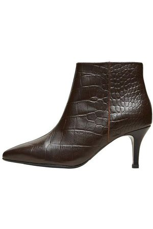 SELECTED Croc Heeled Boots