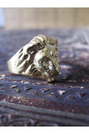 Collard Manson Women Rings - CollardManson 925 Lion Ring-Gold