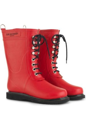 Ilse Jacobsen Women Wellingtons Boots - Medium Length Rubber Lace Up Wellington Boots Deep RUB 15 303