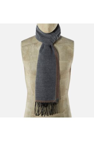 Universal Works Men Scarves - Double Sided Scarf Dark /Sand