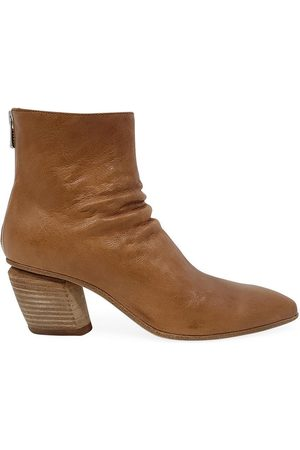 Officine Creative Tan Leather Severine/008 Ankle Boot
