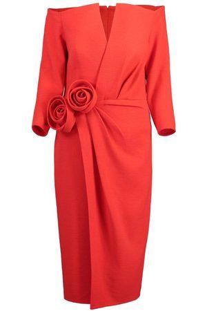 Oscar de la Renta Rosette Cocktail Dress