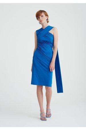 Paisie Shoulder Drape Dress