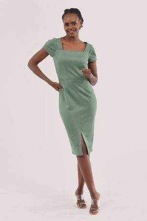 Closet London Women Pencil Dresses - Cap Sleeve Pencil Dress