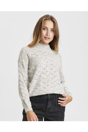Numph Women Jumpers - Nucathay Lace Knit Jumper