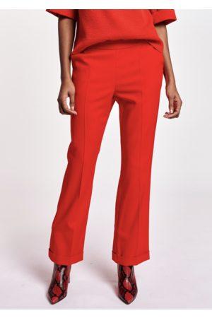 Essentiel Antwerp - Annie Cropped Kickflare Trousers in Coral Queen