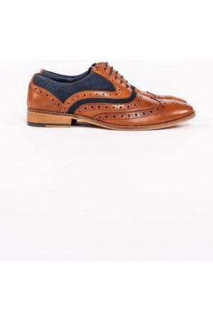 Marc Darcy Murray Tan Leather and Suede Contrast Brogue Mens