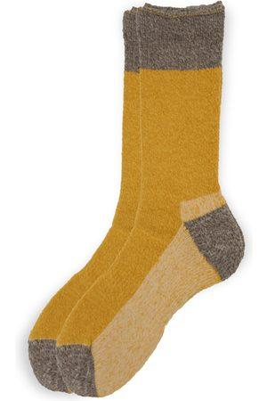 Anonymous-ism OD Pile Crew Socks - Mustard