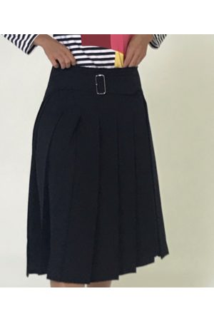 Comme des Garcons Women Pleated Skirts - Pleated wool skirt