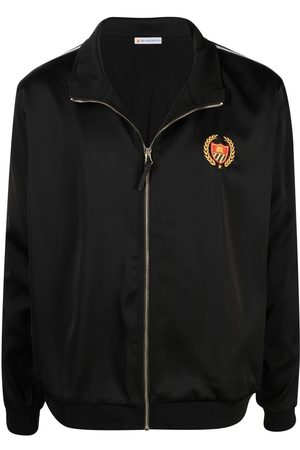 Bel-Air Athletics Logo Embroidered Track Jacket Black