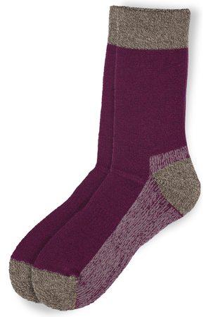 Anonymous-ism OD Pile Crew Socks - Purple