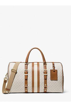 MICHAEL Michael Kors Women Handbags - MK Bedford Travel Extra-Large Logo Stripe Weekender Bag - Vanilla/acorn - Michael Kors