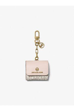 MICHAEL Michael Kors Women Shopper & Tote Bags - MK Logo Clip Case for Apple AirPods® - Vanilla/soft - Michael Kors