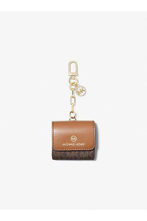 MICHAEL Michael Kors Women Shopper & Tote Bags - MK Logo Clip Case for Apple AirPods® - Brn/acorn - Michael Kors