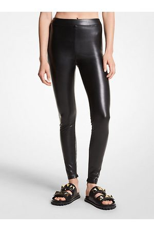 MICHAEL Michael Kors Women Trousers - MK Stretch Faux Leather Leggings - - Michael Kors