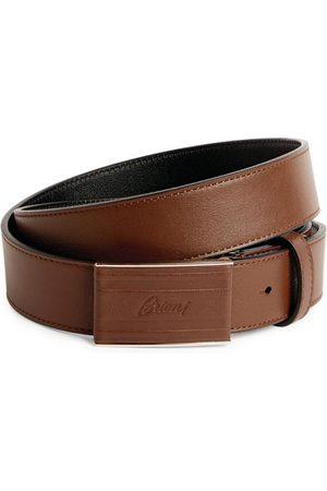 Brioni Logo Buckle Belt