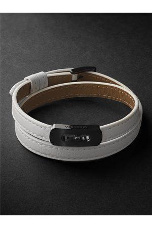 Messika Men Bracelets - DLC-Coated Titanium and Leather Bracelet
