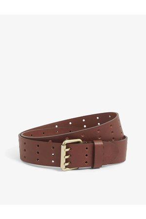 Diesel B-Mili perforated leather belt