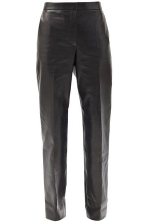 The Row Becker High-rise Leather Trousers - Womens
