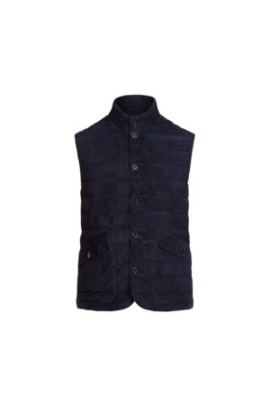 Polo Ralph Lauren Quilted Suede Gilet