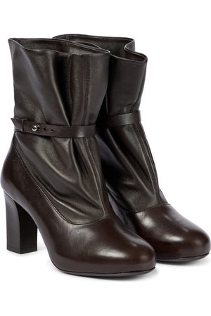 LEMAIRE Suede and leather ankle boots