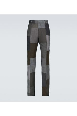 Dolce & Gabbana Patchwork cotton-blend pants