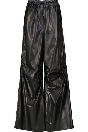 PETAR PETROV Gines wide-leg leather sweatpants