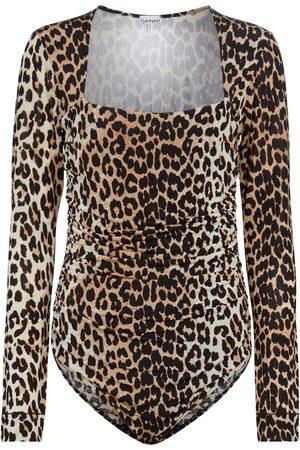 Ganni Leopard-printed bodysuit