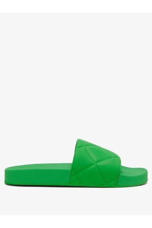 Bottega Veneta The Slider Intrecciato-debossed Rubber Slides - Womens