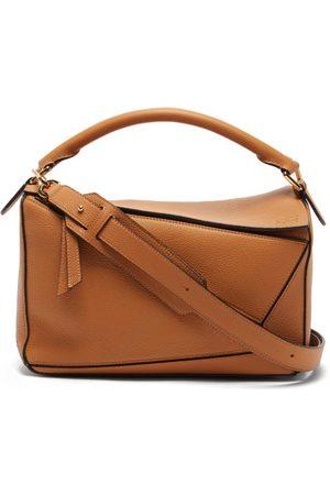 Loewe Puzzle Medium Leather Bag - Womens - Tan