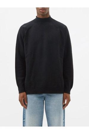 Raey Men Turtlenecks - Recycled-cashmere Blend Turtle-neck Sweater - Mens - Navy