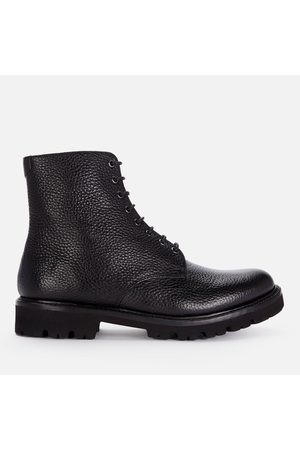 GRENSON Women Lace-up Boots - Men's Hadley Grained Leather Lace Up Boots