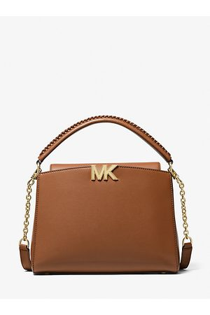MICHAEL Michael Kors Women Handbags - MK Karlie Medium Leather Satchel - Luggage - Michael Kors