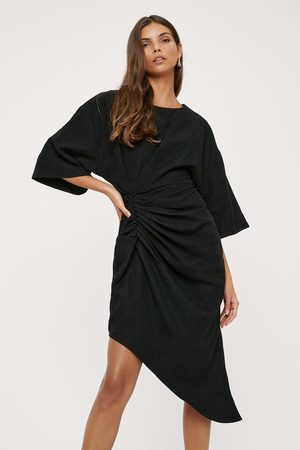 NASTY GAL Womens Boxy Midi Shift Asymmetric Dress