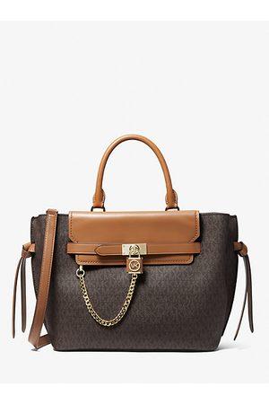 MICHAEL Michael Kors Women Handbags - MK Hamilton Legacy Large Logo Belted Satchel - Brn/acorn - Michael Kors
