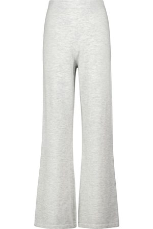 JOSEPH Wide-leg wool and cashmere-blend knit pants