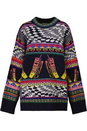 STELLA McCARTNEY Women Jumpers - Intarsia virgin wool-blend sweater