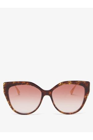 Fendi Baguette Cat-eye Metal And Acetate Sunglasses - Womens