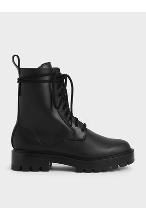 CHARLES & KEITH Lace-Up Calf Boots