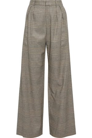 ALICE+OLIVIA Women Wide Leg Trousers - Woman Eric Prince Of Wales Checked Woven Wide-leg Pants Size 0