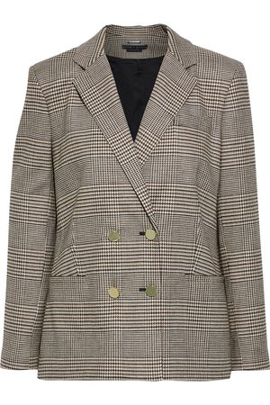 ALICE+OLIVIA Women Blazers - Woman Bergen Double-breasted Prince Of Wales Checked Woven Blazer Size 10