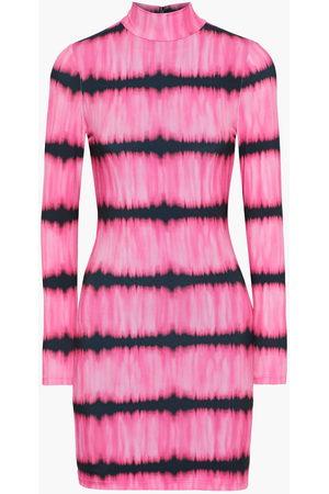 ALICE+OLIVIA Women Casual Dresses - Woman Delora Tie-dyed Stretch-jersey Turtleneck Mini Dress Size 0