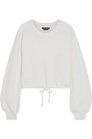 ALICE+OLIVIA Woman Corvina Cropped Ribbed Cashmere-blend Sweater Off- Size L