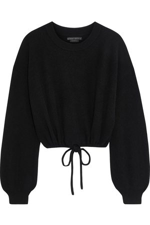 ALICE + OLIVIA Women Jumpers - Woman Corvina Cropped Ribbed Cashmere-blend Sweater Size L