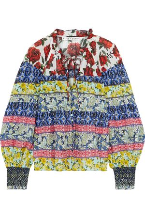 ALICE+OLIVIA Woman Marlyn Tiered Printed Cotton And Silk-blend Blouse Multicolor Size L
